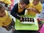 Proceso de germinación con los estudiantes de preescolar